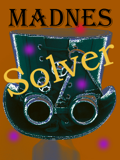 Madnes Solver by author E. E. Rawls Wonderland fantasy steampunk