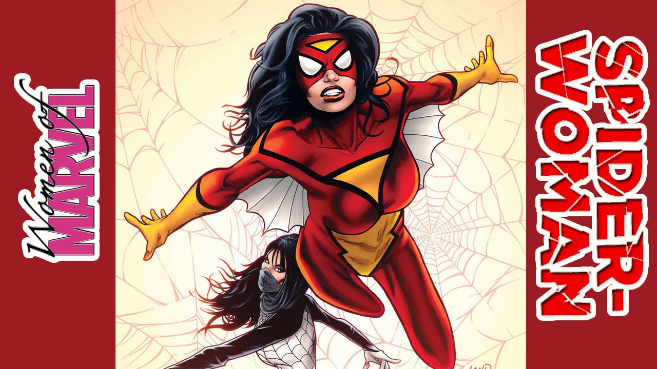 Spiderwoman, spider, woman, red, yellow, girl, insect, superhero, bug, jorogumo, legend, folklore, Japanese,