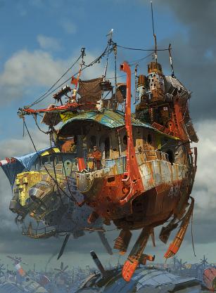 airship, floating, ship, imagine, fantasy, steampunk, fiction, house, flying, authorblog, blogseries, fantasy series, steampunk series,