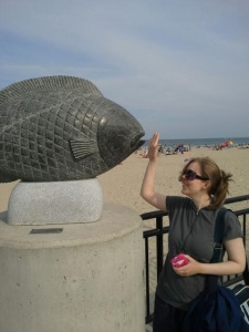 Hampton Beach, sand sculptures, sand art, art, castles, beach, fun, adventure, travel, journey, authorblog, blogseries, writer, author, booknerd, nerd, books, fantasy, mustread, storytelling, blue, white, high-five, waves, ocean, sea, story, blogger, book blog, dream,