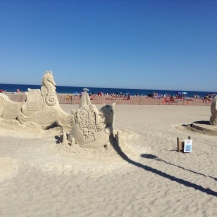 Mc Donald's, lobster, Hampton Beach, NH, sand sculptures, sand art, art, castles, beach, fun, adventure, travel, journey, authorblog, blogseries, writer, author, booknerd, nerd, books, fantasy, mustread, storytelling, blue, white, high-five, waves, ocean, sea, story, blogger, book blog, dream,