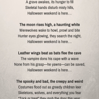 A Halloween Poem For You!