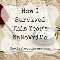 Three Things I Learned This Year's NaNoWriMo