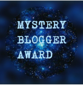 Mystery Blogger award, Sara L, author E E Rawls, blog award, writer, books, am reading, mystery, blue, stars, universe, outer space,