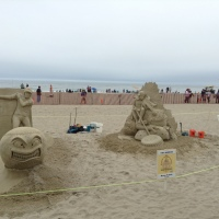 Fun at the Beach, and the Sand Sculpture Event 2017!