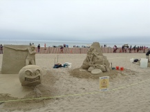 sand sculpture, event, ocean, beach, summer fun, author blog, life, art, 2017, June, hampton, books, writer, blogger,