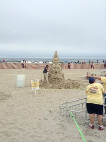 i can't get this out of my head, sand, sculpture, ocean, summer fun, 2017, June, author blog, books, stories, life, sun,