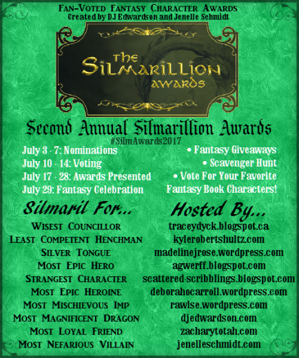 SilmAwards2017, Silmarillion Awards, Jenelle Schmidt, DJ Edwardson, fantasy awards, books, novels, favorite characters, author blog, fiction characters, most mischievous imp,