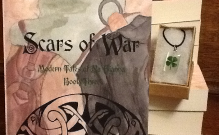 Scars of war, modern tales, na fianna, book series, urban fantasy YA, irish mythology, Hazel West, author blog, clover, new books, paperbacks, 2017, folklore, kindle, smashwords, amazon, watercolor, book cover,