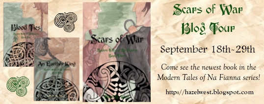 Hazel West, book, Irish, mythology, fairies, na fianna series, Scars of War, book tour, blog tour, 2017, legends, book series, new series,