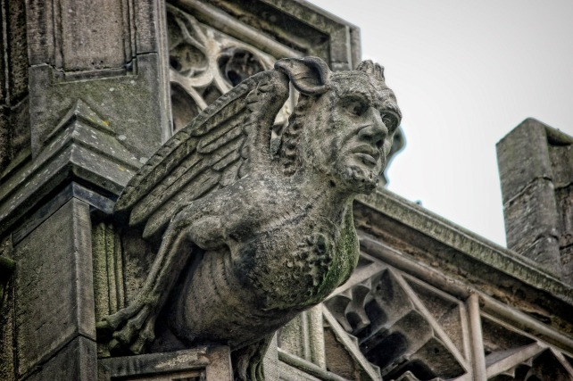 gargoyle, gothic, architecture, author blog, am writing, am reading, stone, grotesque, human, bird, monk, lion, dragon, animal, church, ancient, practices, gutter, Europe, France,