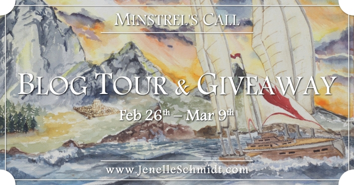Minstrel's Call, Jenelle Schmidt, author, fantasy books, book tour, book giveaway, minstrels, am reading, book nerd,