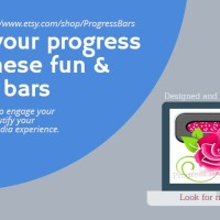 Show off your work's progress with these lovely Progress Bars: