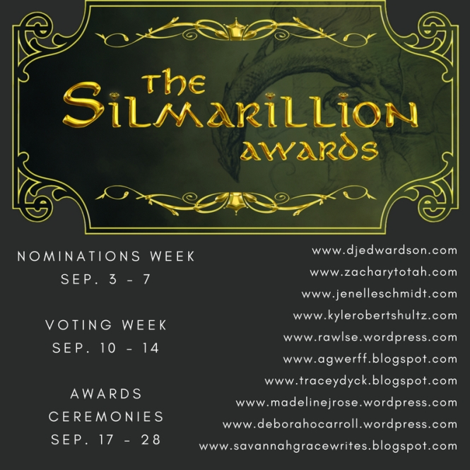 the Silmaril Awards, Most epic hero, epic hero award, Aragorn, Tolkien, Lord of the rings, the Hobbit, Tolkien characters, fantasy characters awards, book awards, nominate your favorite characters, favorite characters, favorite books, favorite heroes, jenelle schmidt, dj edwardson,