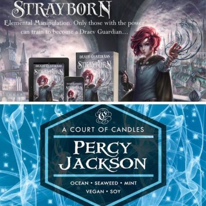 Percy Jackson candles, books like Percy Jackson, books like Harry Potter, books like Sanderson, Strayborn, Draev Guardians, new fantasy books for teens, new fantasy books for kids, new fall books 2019, books with elemental powers,