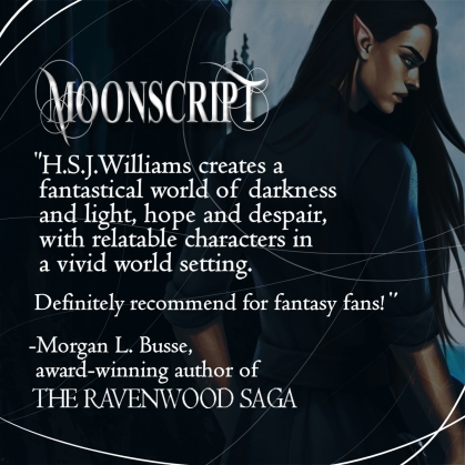 Moonscript book, H.S.J. Williams books, christian author, christian fantasy books, new fantasy books, new book releases, new books coming soon, book cover reveals,