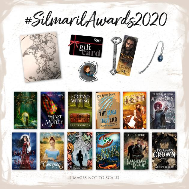 Silmaril Awards 2020, fantasy awards, book awards, fantasy book giveaway, book giveaway, Tolkien giveaway, Tolkien awards, fantasy book prizes, realm makers authors, Tolkien swag, custom fantasy map,