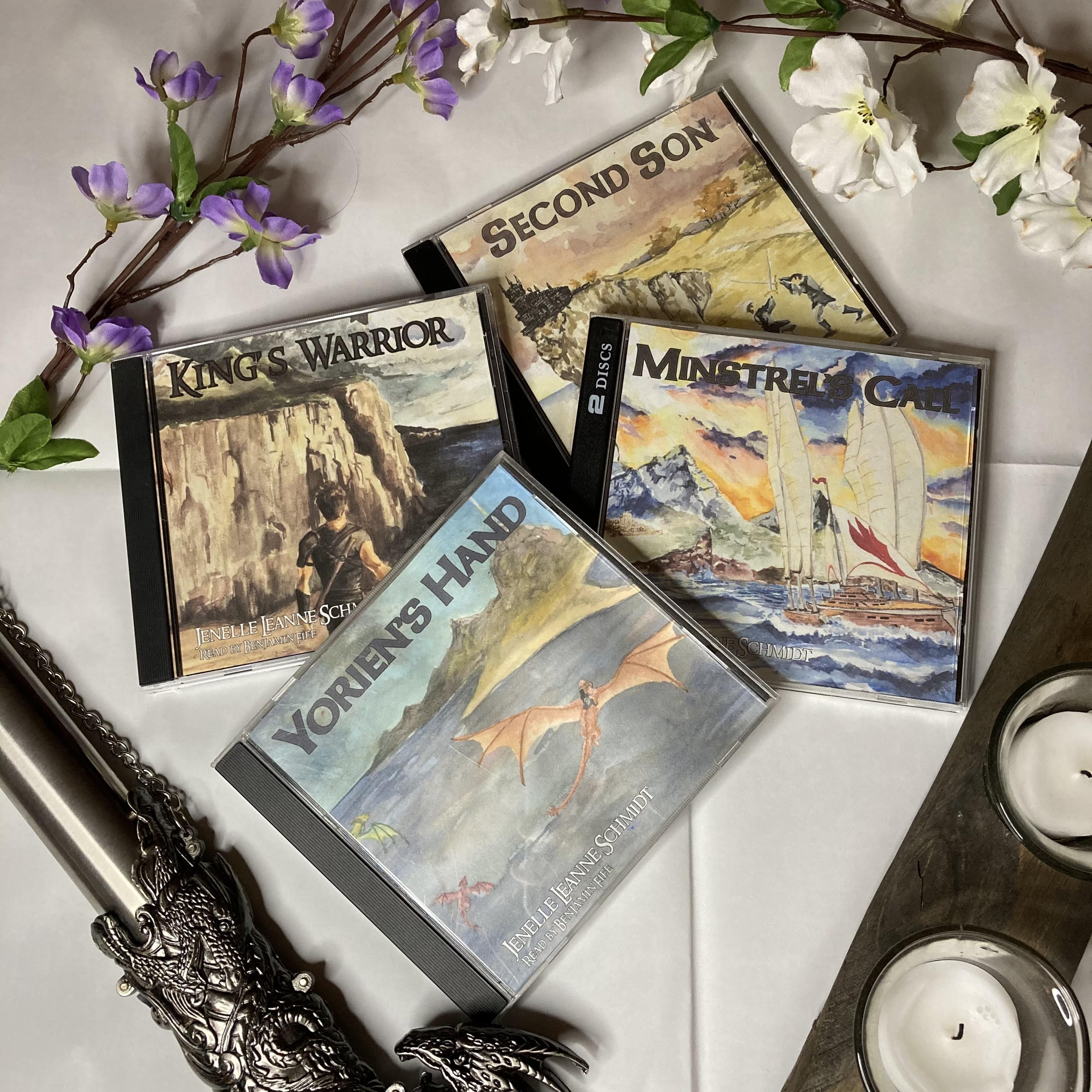 King's Warrior book, author Jenelle Schmidt, new fantasy books, fantasy adventure audio books, YA fantasy, middle grade fantasy reads, clean fantasy reads, 2020 audio books, second son book, yorien's hand book, minstrel's call book,